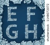 cracked ice e f g h letters.... | Shutterstock .eps vector #1148072072