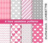 set of 8 vector seamless... | Shutterstock .eps vector #1148087798