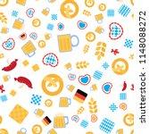 oktoberfest seamless pattern.... | Shutterstock .eps vector #1148088272