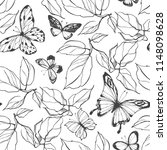 seamless vector pattern with... | Shutterstock .eps vector #1148098628