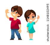 happy children smiling and... | Shutterstock .eps vector #1148102495
