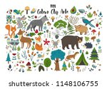 big set of hand drawn forest...   Shutterstock .eps vector #1148106755