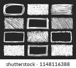 set of hand drawn scribble... | Shutterstock .eps vector #1148116388