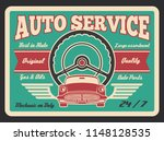 auto service vintage poster for ... | Shutterstock .eps vector #1148128535
