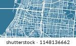 detailed vector map of memphis  ... | Shutterstock .eps vector #1148136662