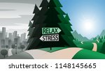 road junction and relax or... | Shutterstock .eps vector #1148145665