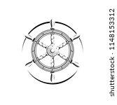 steering wheel in vintage...   Shutterstock .eps vector #1148153312