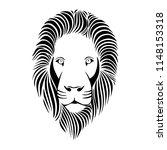 head of  lion in vintage...   Shutterstock .eps vector #1148153318