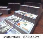 3d illustration. dollar bills... | Shutterstock . vector #1148154695