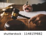 law theme  mallet of the judge  ... | Shutterstock . vector #1148159882