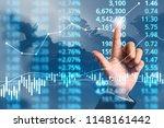 businessman plan graph growth...   Shutterstock . vector #1148161442