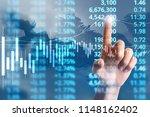 businessman plan graph growth... | Shutterstock . vector #1148162402