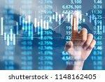 businessman plan graph growth...   Shutterstock . vector #1148162405