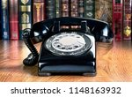 old style rotary telephone from ... | Shutterstock . vector #1148163932