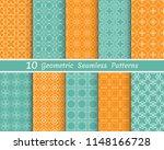 set of seamless line patterns.... | Shutterstock .eps vector #1148166728
