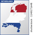 the detailed map of netherlands ... | Shutterstock .eps vector #1148171648
