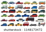 a set of road vehicles ... | Shutterstock .eps vector #1148173472