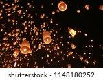 Many Sky Lantern Balloon Was...