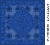 blue color abstract bandana...   Shutterstock . vector #1148182205
