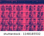 old building in the lower east... | Shutterstock . vector #1148185532