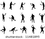 squash silhouettes | Shutterstock .eps vector #11481895