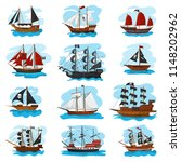 piratic ship vector pirating... | Shutterstock .eps vector #1148202962