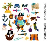 pirate vector piratic character ... | Shutterstock .eps vector #1148202968