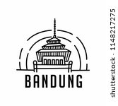 gedung sate is a public... | Shutterstock .eps vector #1148217275