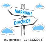 marriage divorce direction... | Shutterstock .eps vector #1148222075