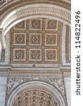 triumphal arch  paris | Shutterstock . vector #114822496