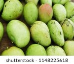 Small photo of The Carabao mango, also known as the Philippine or Manila mango, one of the most important varieties of mango cultivated in the Philippines with its sweetness and exotic taste.
