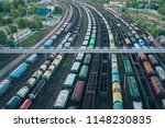 railway station with lots of... | Shutterstock . vector #1148230835