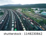 railway station with lots of... | Shutterstock . vector #1148230862