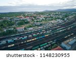 railway station with lots of... | Shutterstock . vector #1148230955