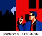 secret agent  spy  security... | Shutterstock .eps vector #1148233682
