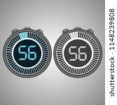 electronic digital stopwatch.... | Shutterstock .eps vector #1148239808