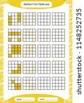 repeat yellow pattern. cube... | Shutterstock .eps vector #1148252735