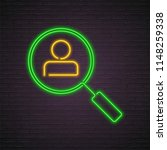search icon neon light glowing...