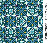 spanish tile pattern vector...