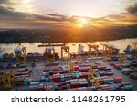 logistics and transportation of ... | Shutterstock . vector #1148261795
