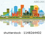 abidjan ivory coast city... | Shutterstock . vector #1148264402