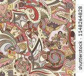 tracery seamless pattern.... | Shutterstock .eps vector #1148264828
