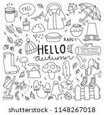 set of autumn doodle elements  | Shutterstock .eps vector #1148267018