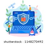 concept data protection ... | Shutterstock .eps vector #1148270492