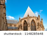 elaborate tracery on exterior... | Shutterstock . vector #1148285648