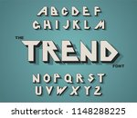 vector of modern bold font and... | Shutterstock .eps vector #1148288225