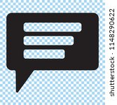 speech bubble icon. chat icon ... | Shutterstock .eps vector #1148290622