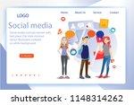 social media concept banner... | Shutterstock .eps vector #1148314262