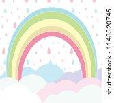 rainbow with cloudy on rain... | Shutterstock .eps vector #1148320745