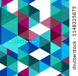 multicolored triangles abstract ... | Shutterstock .eps vector #1148325875